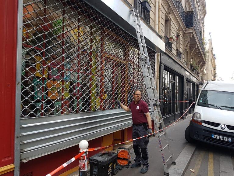 Dépannage rideaux métalliques paris