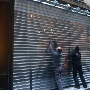 déblocage de rideaux métalliques